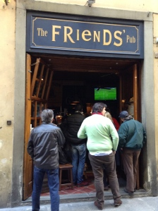 In Florence, there are plenty of Irish pubs.  This one happened to be two blocks from the Pont Vechhio bridge.