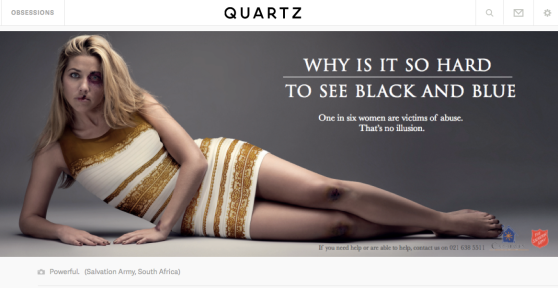 The cover image to the Quartz article. Notice that the bruising along the legs are less.